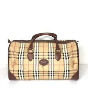 Authentic Burberry unisex brown travel bag